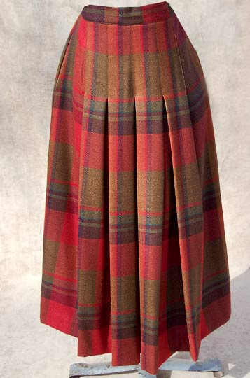 vintage 80s Perry Ellis tartan skirt