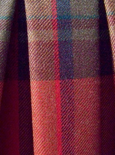 vintage 80s preppy designer plaid skirt