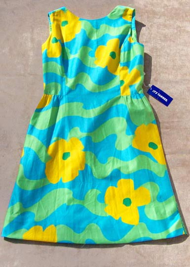 Vintage Tanner pop-print sundress NWT, late 1960s to mid 1970s | free shipping | deadlyvintage.com :  floral vintage clothing clothes
