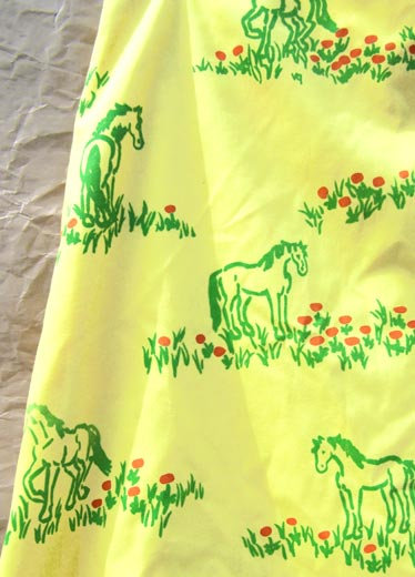 vintage 70s vested gentress horses skirt