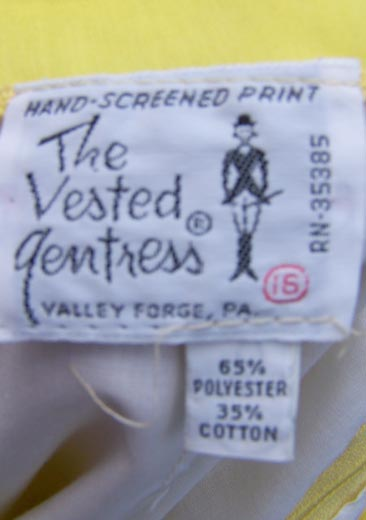 vintage 70s Vested gentress label
