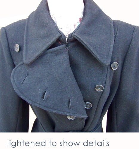 vintage 60s military inspired coat