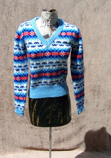 vintage 80s novelty snowflake sweater