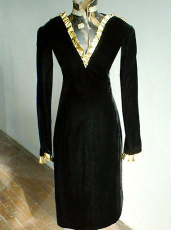 Givenchy snakeskin velvet dress