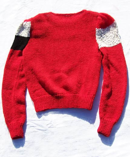 vintage 80s colorblock sweater