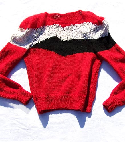 vintvintage 80s colorblock sweaterage