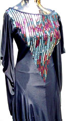 vintage 80s sequin xanadu dress