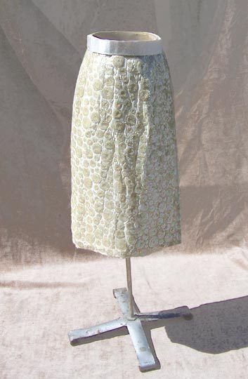 vintage cream sequin wrap skirt