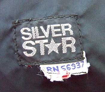 vintage 70s 80s Silver Star label