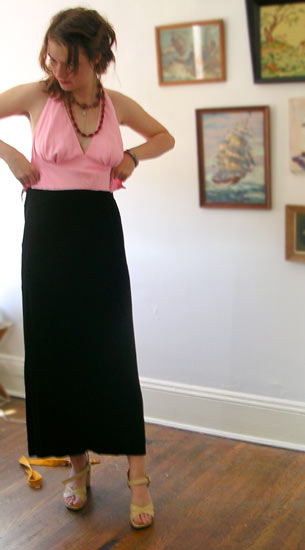 vintage 90s Marilyn-style prom dress