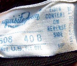 vintage 40s 50s Exquisite Form label