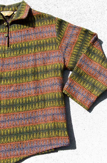 vintage 40s 50s mens ethnic wool pullover