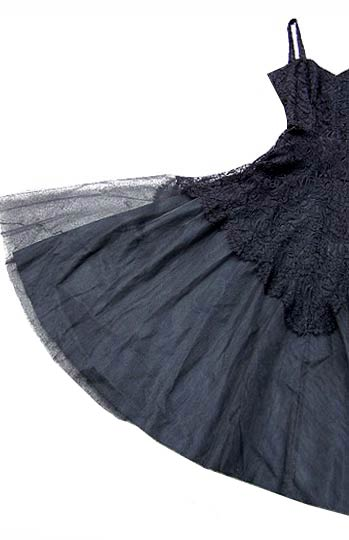 vintage 30s 40s black lace tulle ball gown