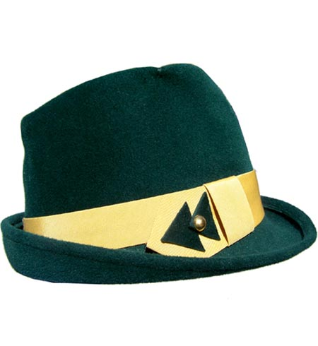50s green hat