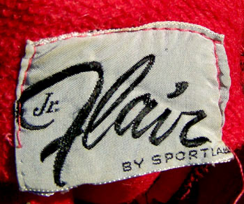 vintage 50s Jr. Flair label