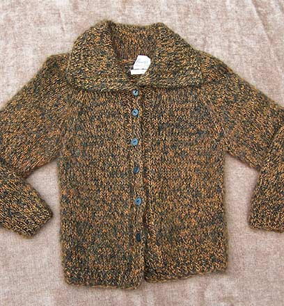 vintage 50s Italy mohair cardigan