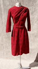 vintage 50s red pencil dress swag