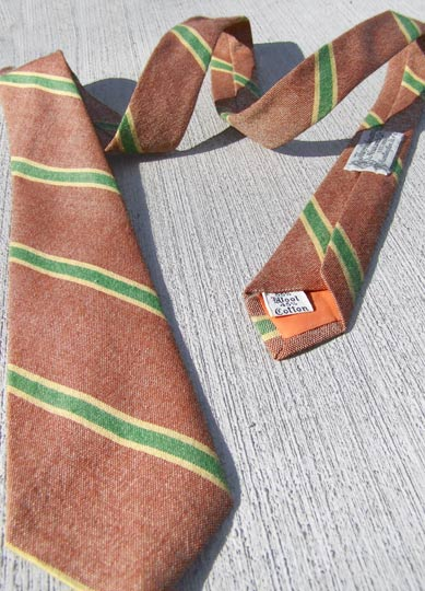 vintage 50s preppy cotton stripe tie