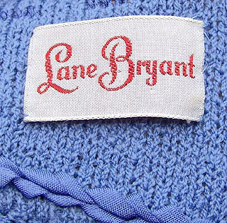 vintage 50s Lane Bryant label