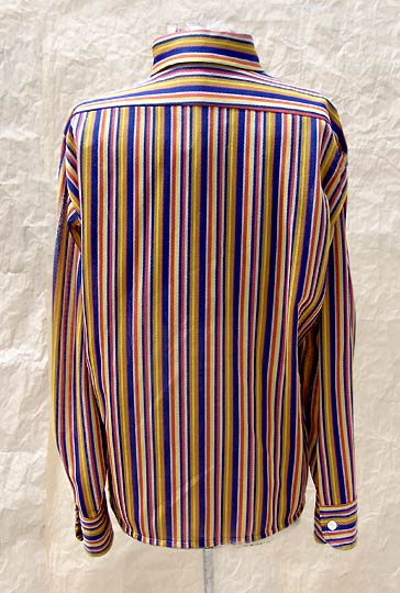 vintage 70s mens Arrow dirty sheer knit shirt