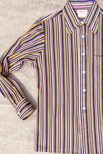 vintage mens 70s Arrow dirty sheer knit shirt