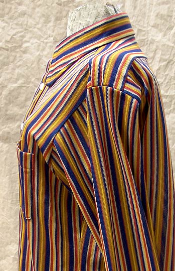 vintage 70smens Arrow dirty sheer knit shirt