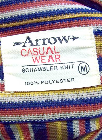 vintage 60s 70s Arrow scrambler knit labelt