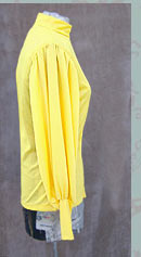 vintage mod yellow blouse