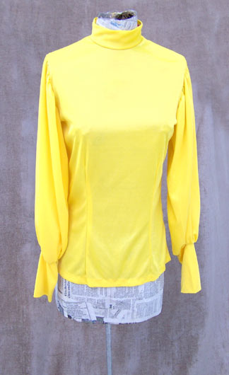 vintage mod yellow knit top