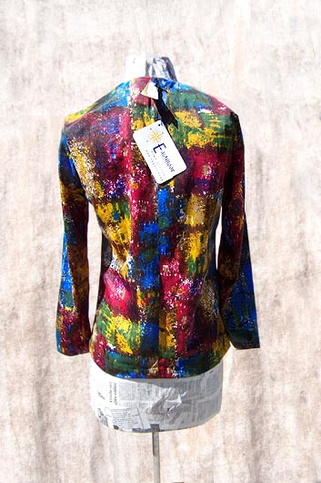 vintage 60s watercolor knit top