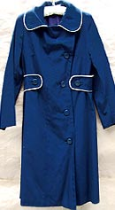 vintage 60s Fairbrooke navy raincoat