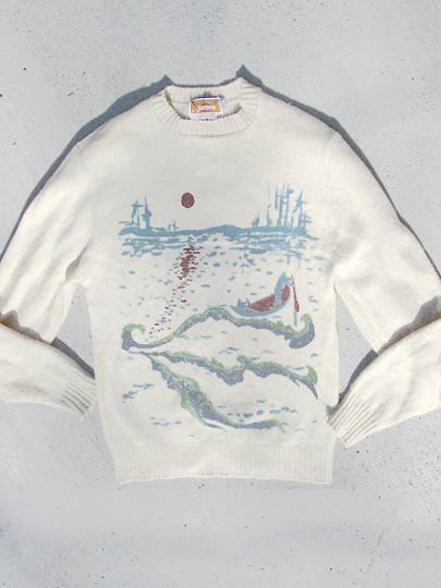 vintage 60s 70s Jantzen mens nautical sweater