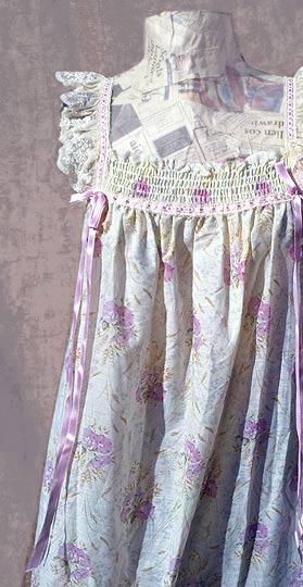 vintage 60s ruffled nightgown peignoir