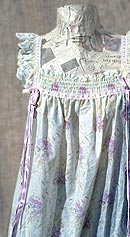 vintage 60s floral ruffled nightgown