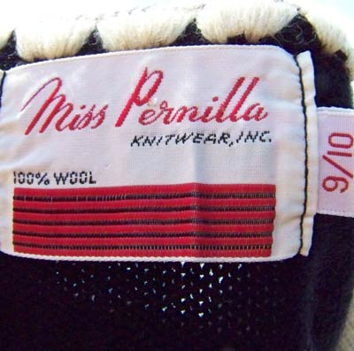 vintage 50s 60s Miss Pernilla label
