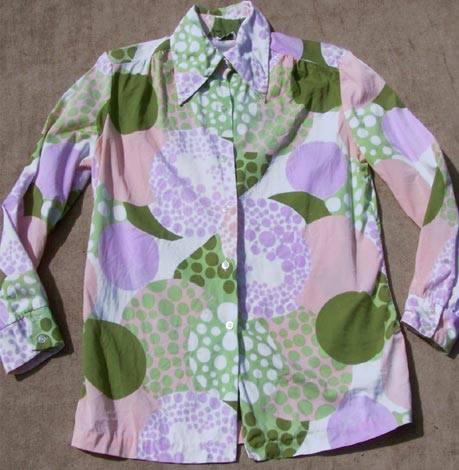 vintage 60s psychedelic blouse