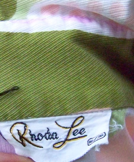 vintage 60s Rhode Lee label