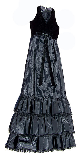 vintage 50s dior-influenced black gown