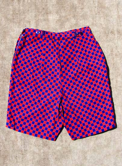vintage 50s check hot pants