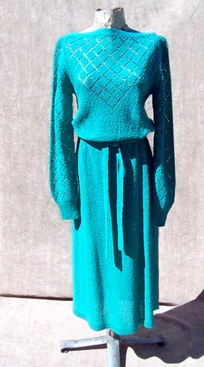 vintage 60s 70s sweater dress