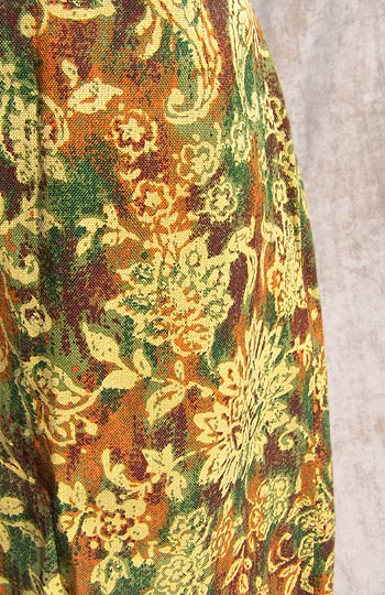 vintage 50s 60s paisley pencil skirt