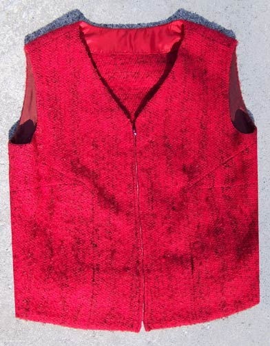 vintage red tweed vest skirt set