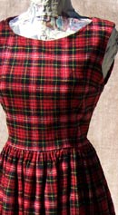 vintage 50s 60s red plaid dress