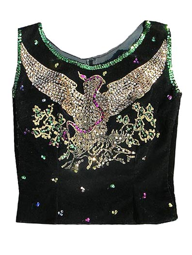vintage 50s velvet sequin top