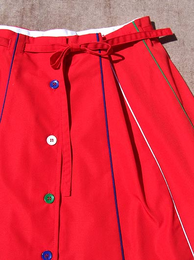 vintage 70s preppy piped skirt