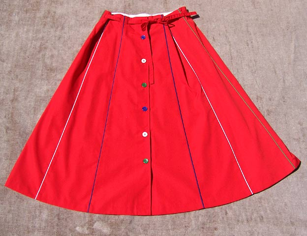 vintage 70s bowling skirt