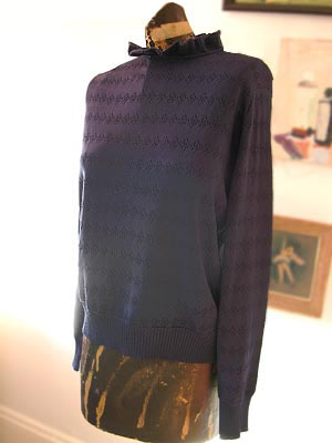 vintage 80s Givenchy ruffled sweater
