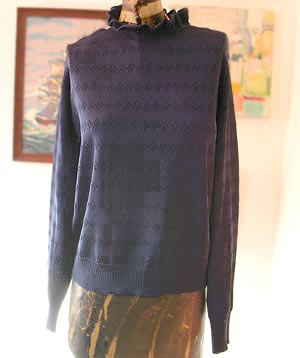 vintage 80s Givenchy Sport ruffled sweater