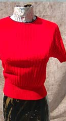 vintage early 70s red sweater top