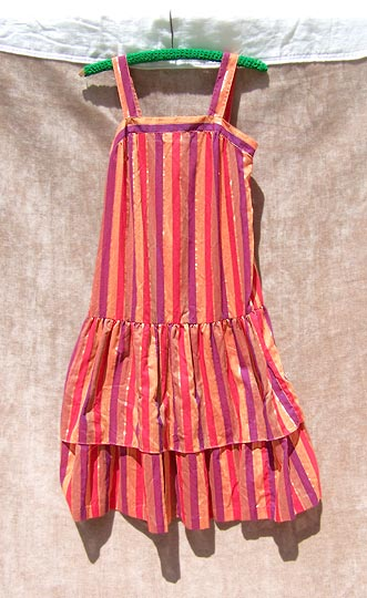 Vintage Madras flapper sundress, late 1960s to mid 1970s | free shipping | deadlyvintage.com :  twenties flapper vintage metallic